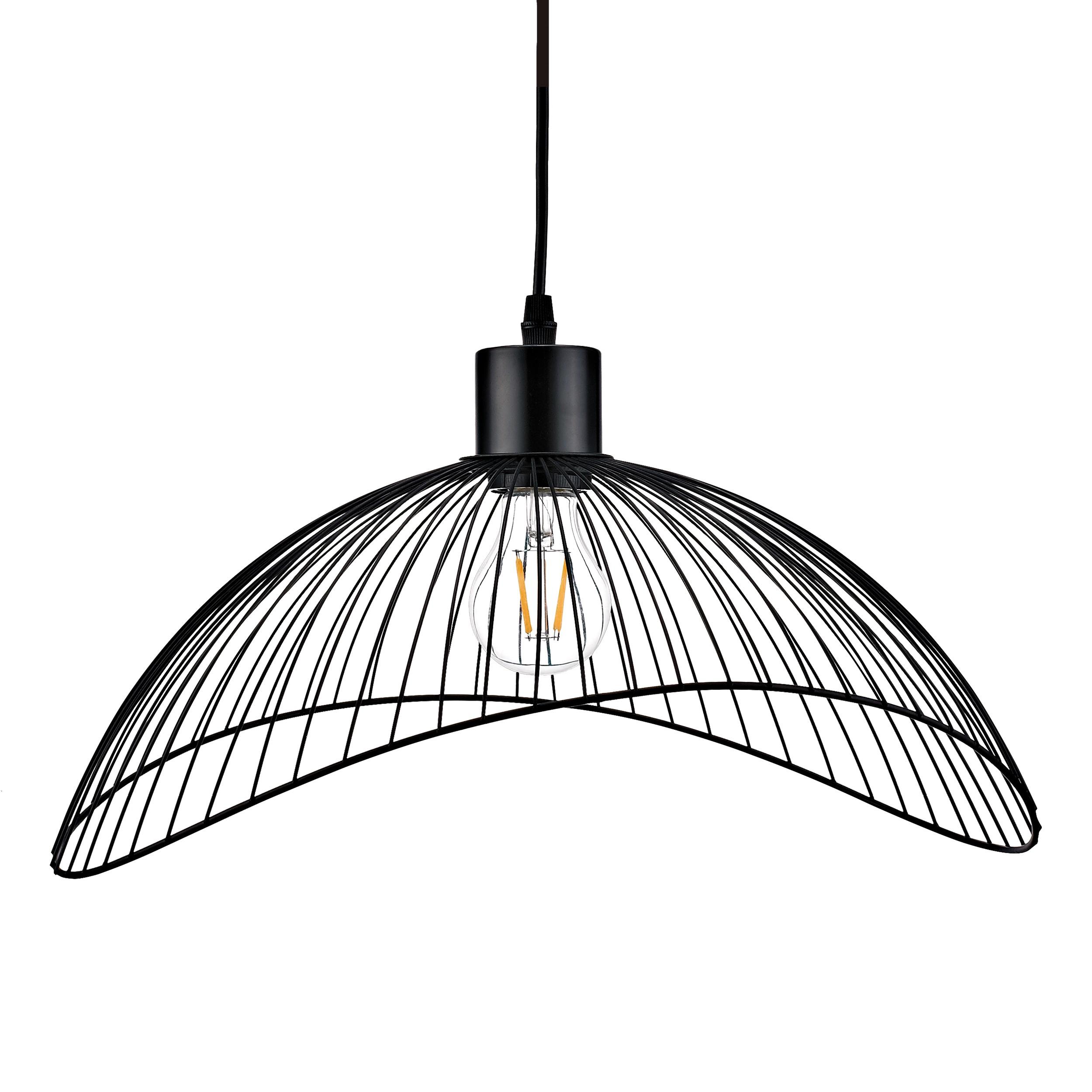 Lampa wisząca AJE-HOLLY 5 Black 1xE27 40cm