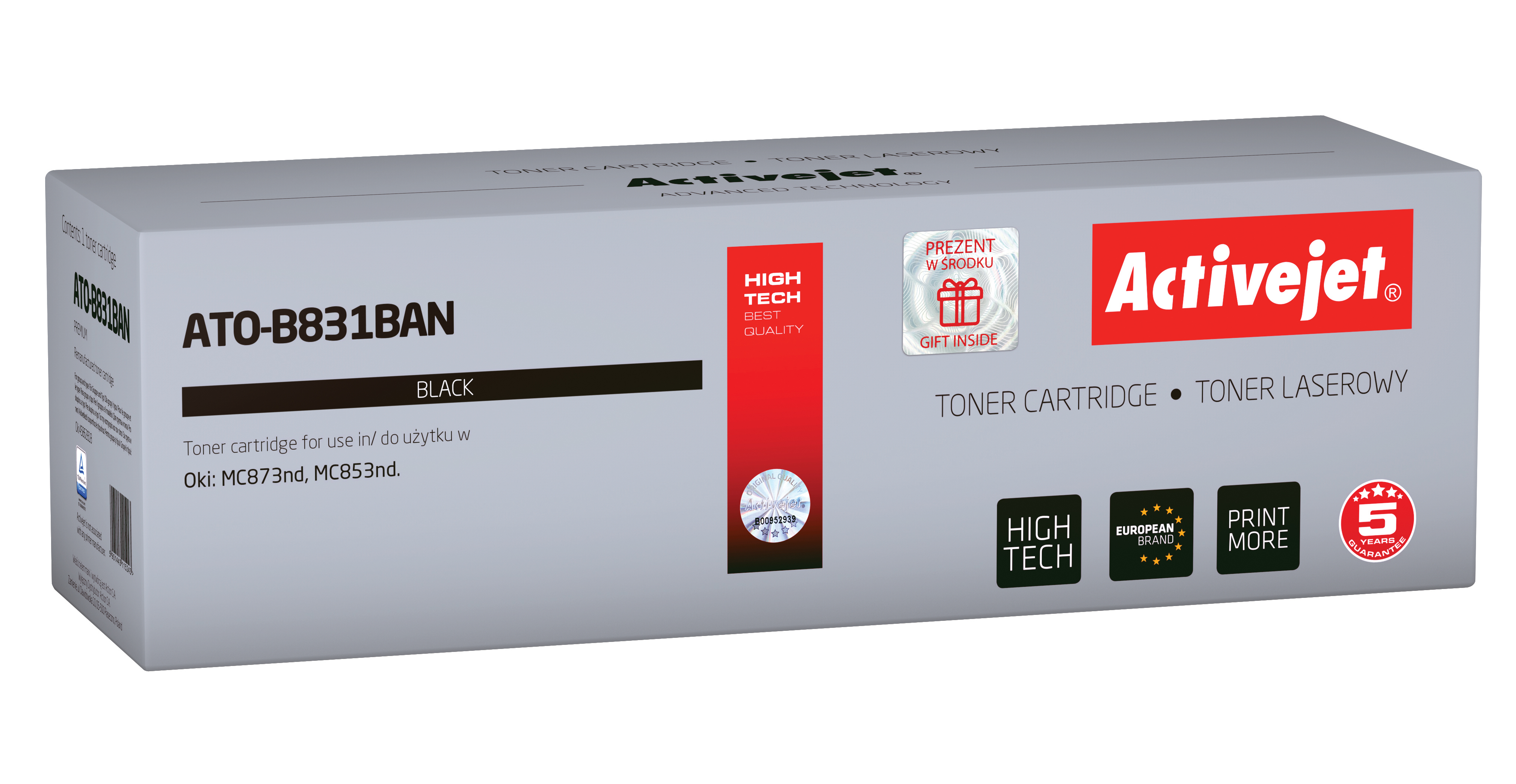 Activejet toner do OKI 45862818 reg ATO-B831BAN