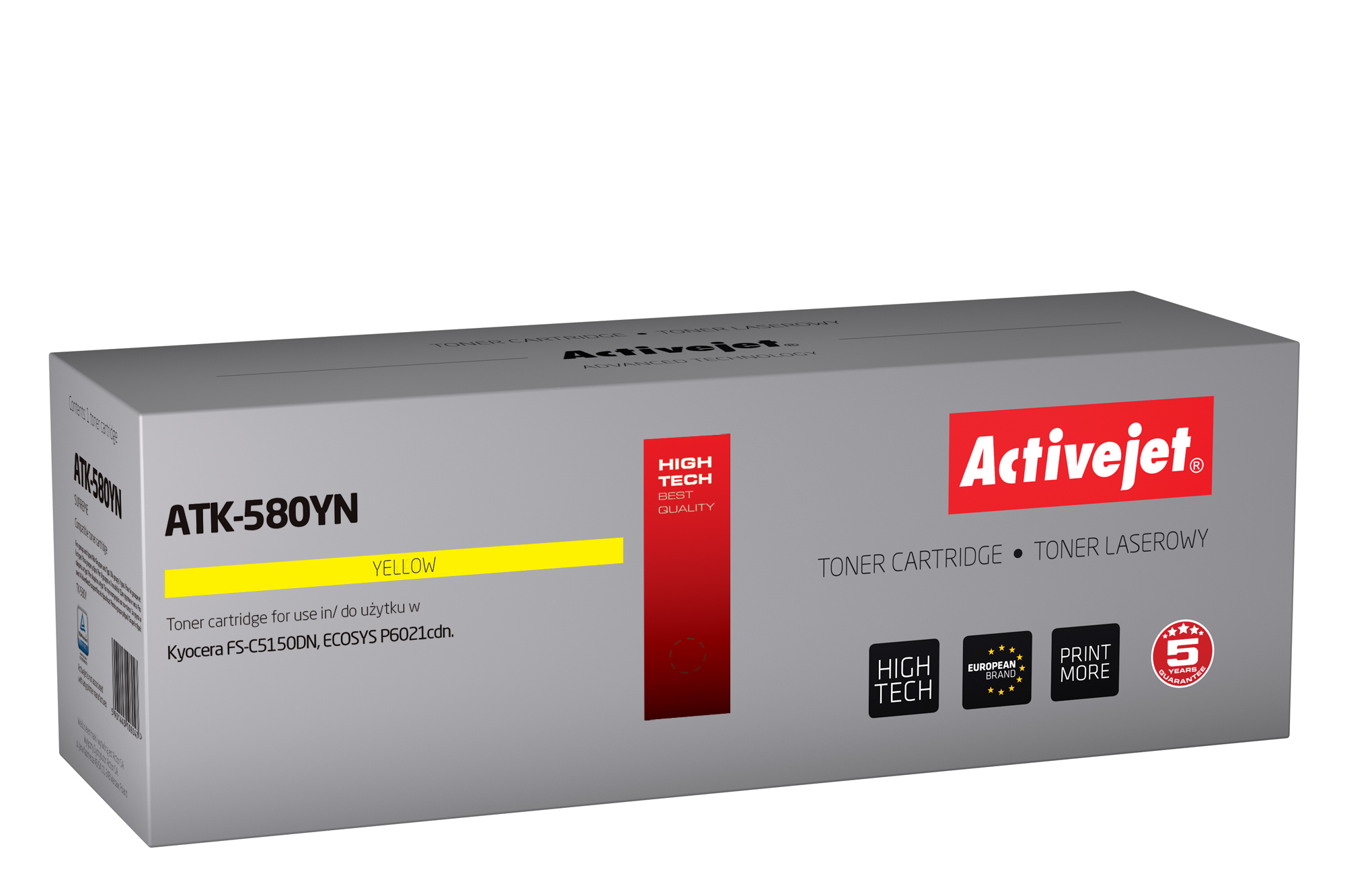 Activejet toner do Kyocera TK-580Y new ATK-580YN