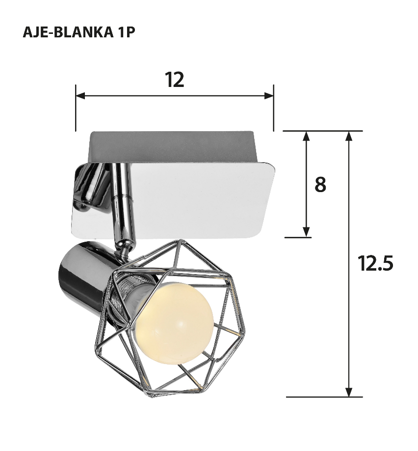 Reflektor AJE-BLANKA 1P E14 1x40W