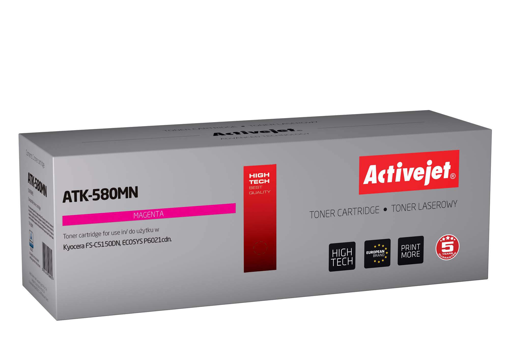 Activejet toner do Kyocera TK-580M new ATK-580MN