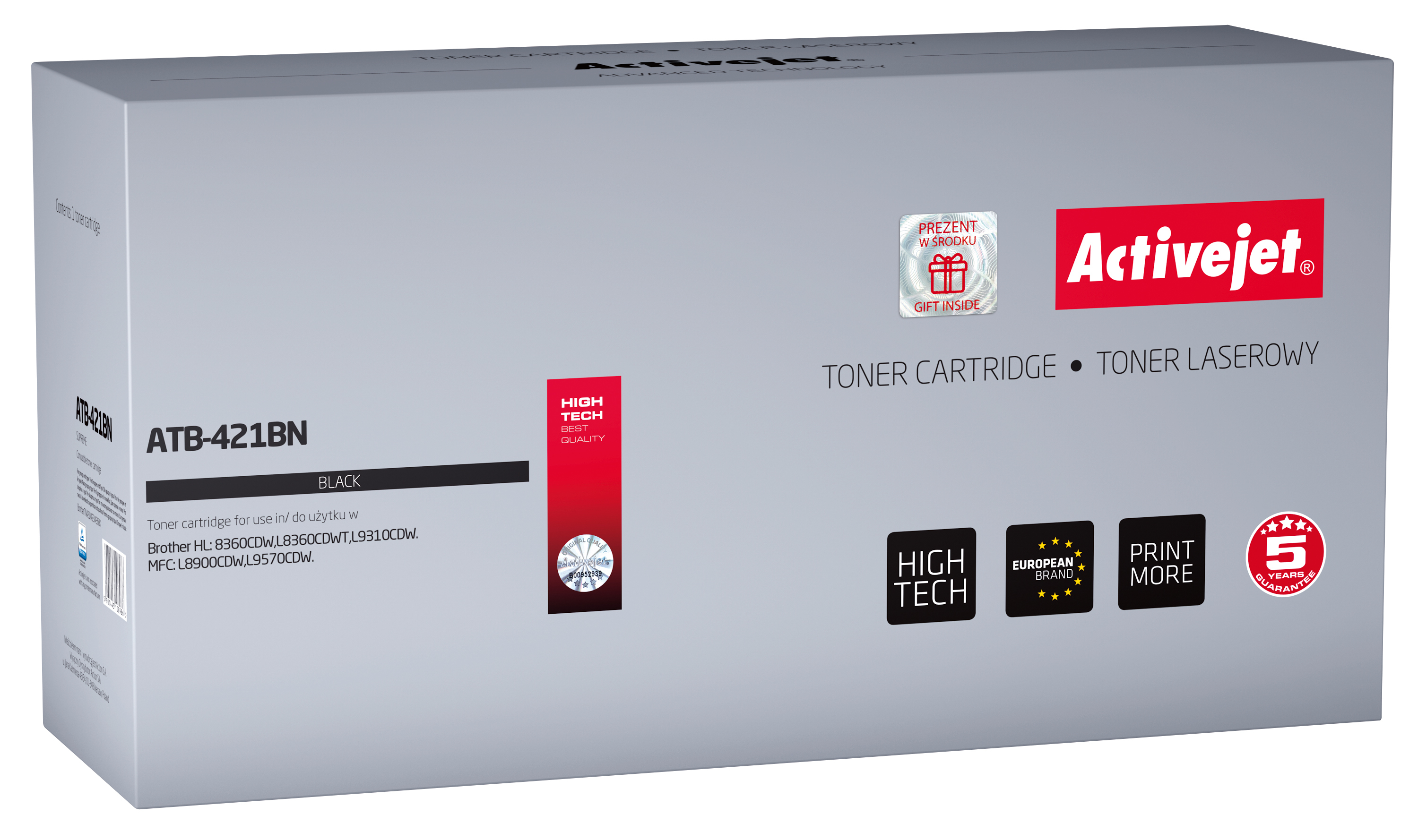 Activejet toner do Brother TN-421BK new ATB-421BN