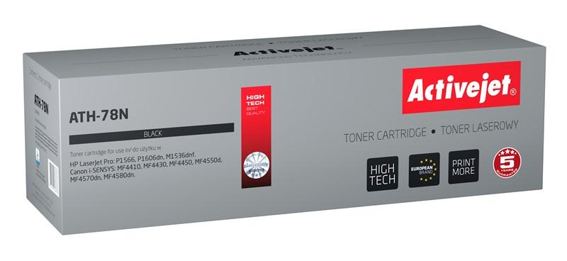 Toner Activejet ATH-78N do drukarki HP, Canon, Zamiennik HP CE278A, Canon CGR-728;  Supreme;  2 500 stron;  czarny.