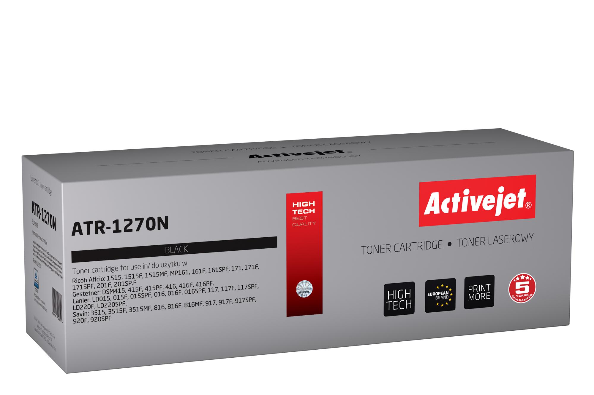 Toner Activejet ATR-1270N (do drukarki Ricoh, zamiennik 1270D 888261, 885476 supreme 7000str. czarny)