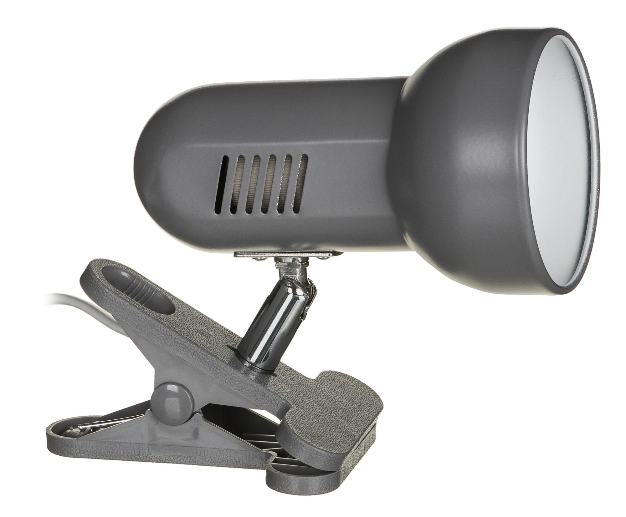 Lampka na klips szara AJE-CLIP LAMP GREY E27