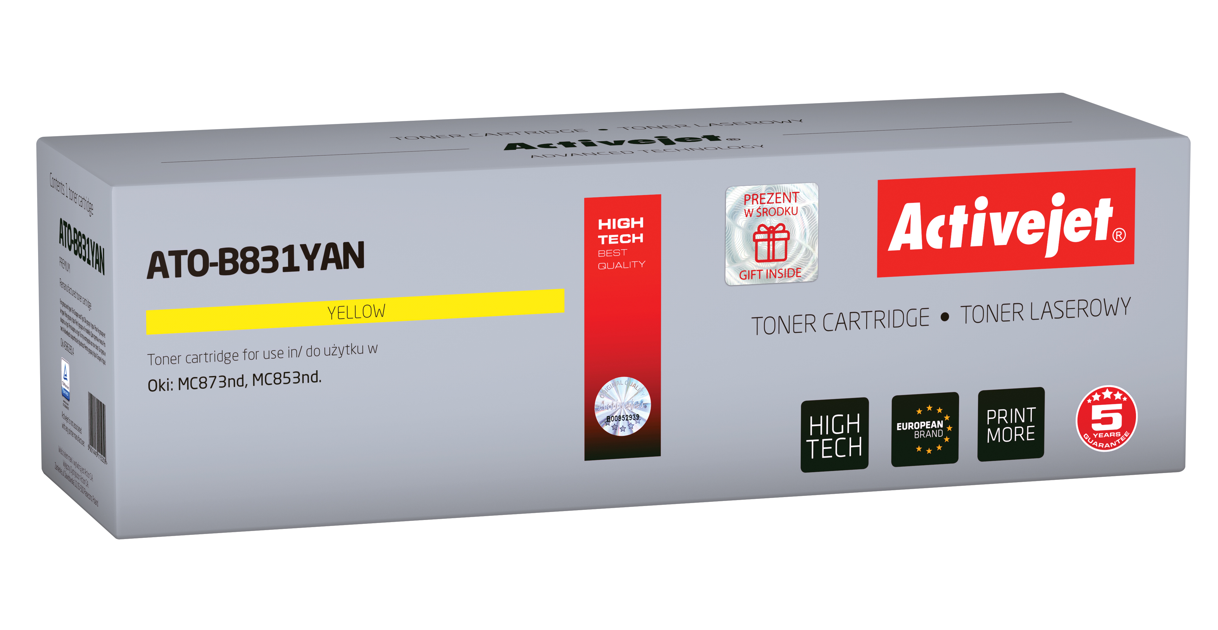 Activejet toner do OKI 44844509 reg ATO-B831YAN