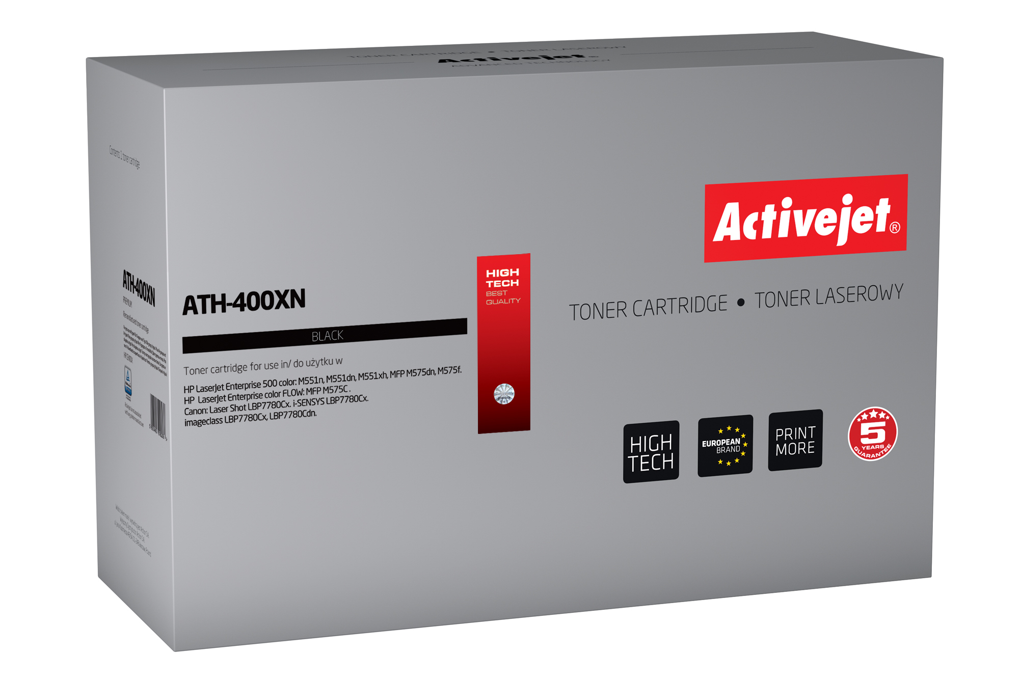 ActiveJet toner do HP 507X CE400X reg ATH-400XN