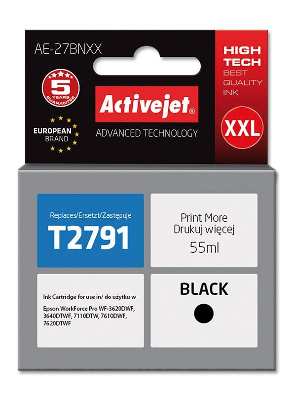 Tusz Activejet AE-27BNXX do drukarki Epson, Zamiennik Epson 27XXL T2791;  Supreme;  55 ml;  czarny.