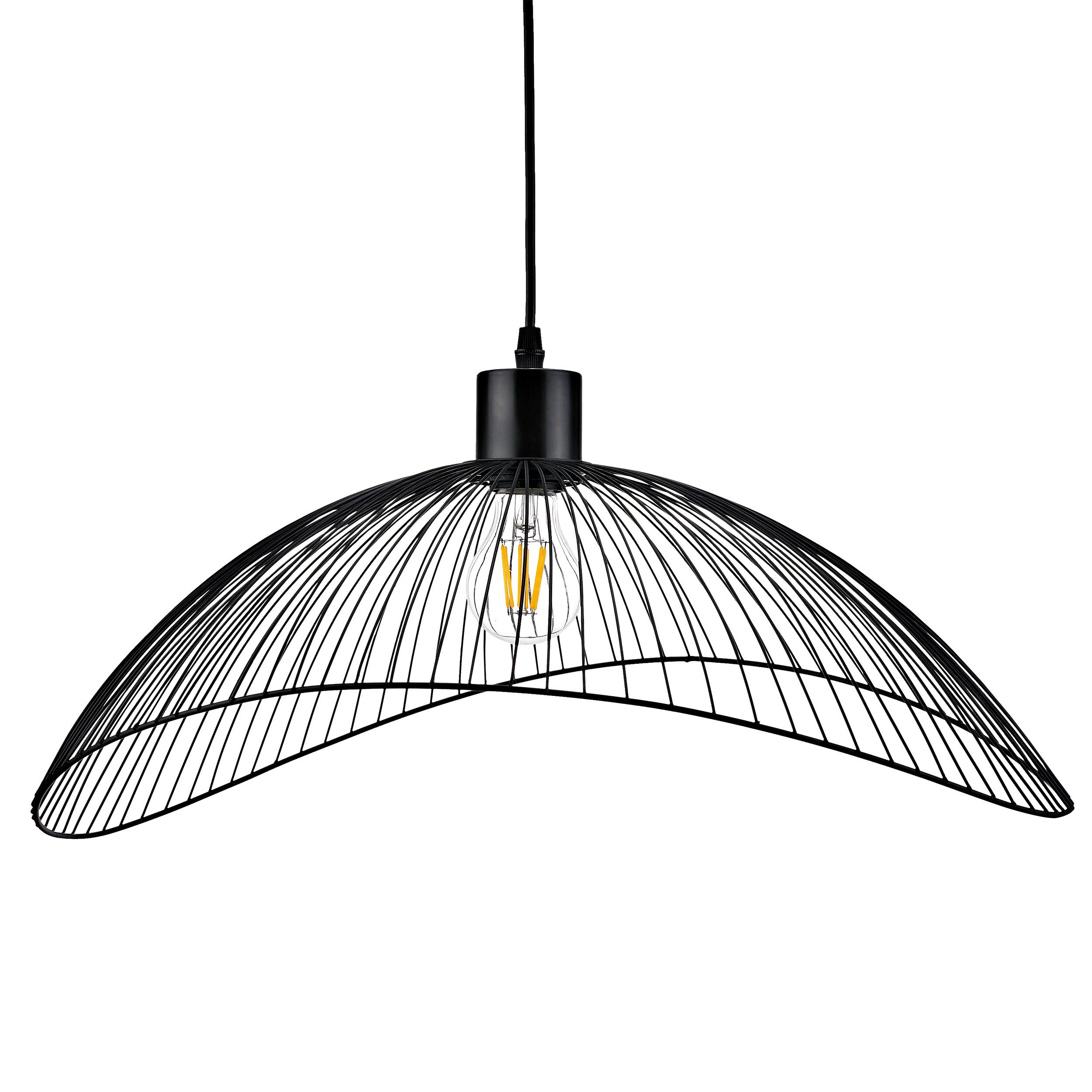 Lampa wisząca AJE-HOLLY 6 Black 1xE27 50cm