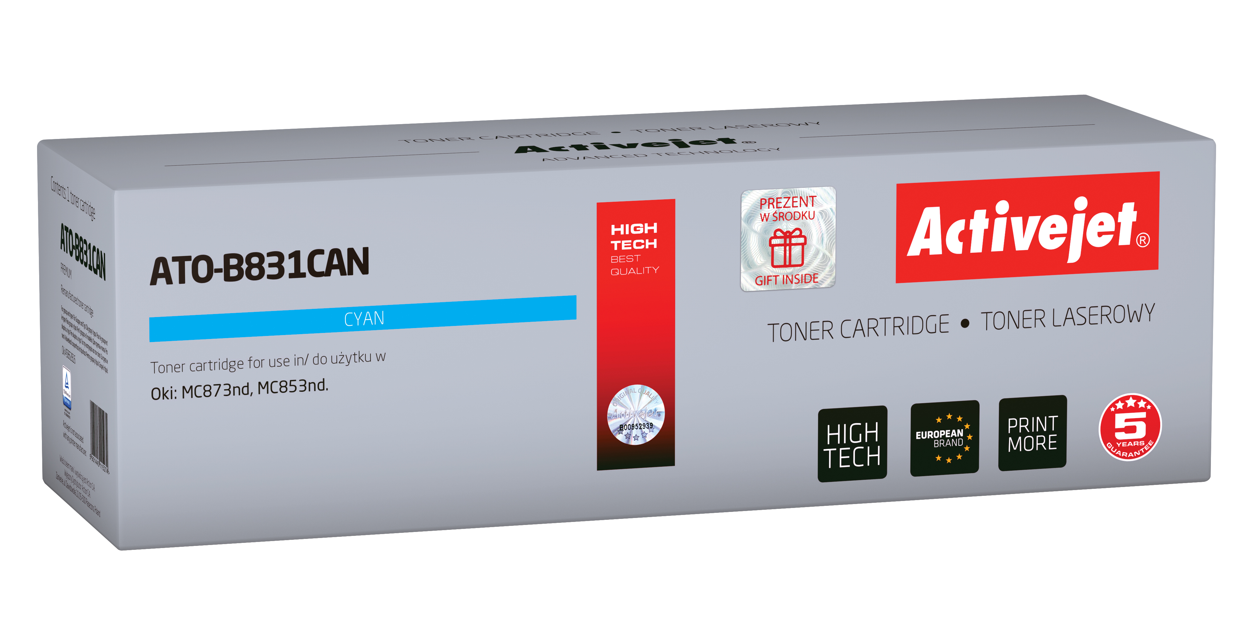 Activejet toner do OKI 45862816 reg ATO-B831CAN