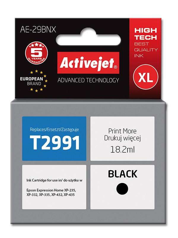 Tusz Activejet AE-29BNX do drukarki Epson, Zamiennik Epson 29XL T2991;  Supreme;  18 ml;  czarny.