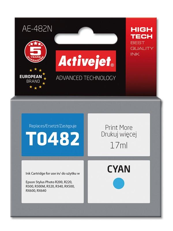 Tusz Activejet AE-482N do drukarki Epson, Zamiennik Epson T0482;  Supreme;  17 ml;  błękitny.