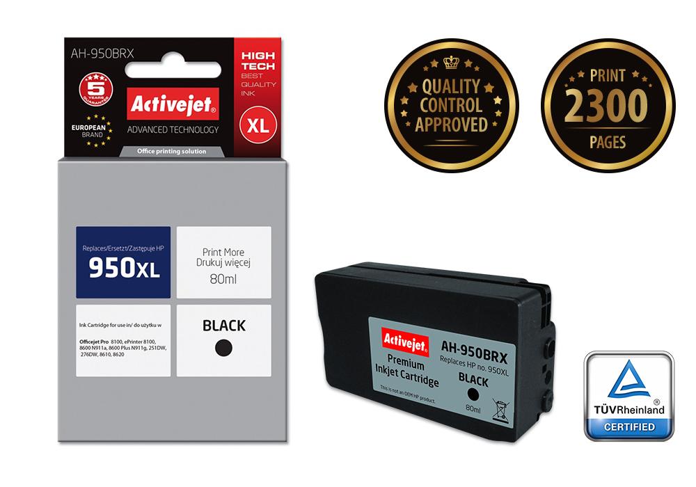 ActiveJet AH-950BRX tusz czarny do drukarki HP (zamiennik HP 950XL CN045AE)..