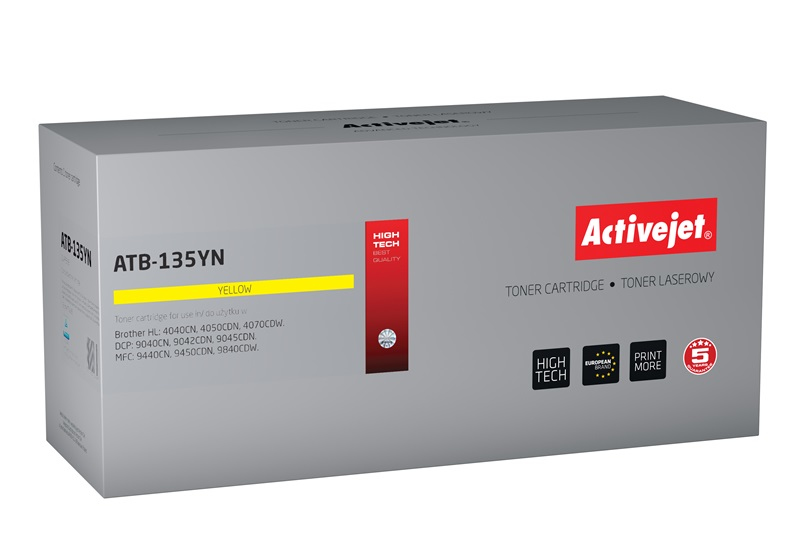 ActiveJet ATB-135YN [AT-135YN] toner laserowy do drukarki Brother (zamiennik TN135Y)