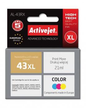 ActiveJet AL-43RX tusz trójkolorowy do drukarki Lexmark (zamiennik Lexmark 43XL 18YX143) Premium.