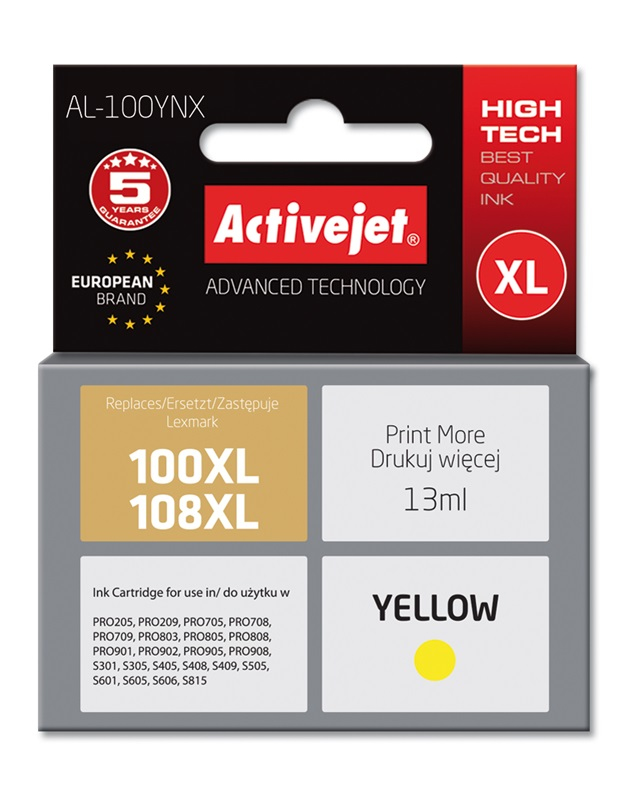 ActiveJet AL-100Y tusz Yellow do drukarek Lexmark..