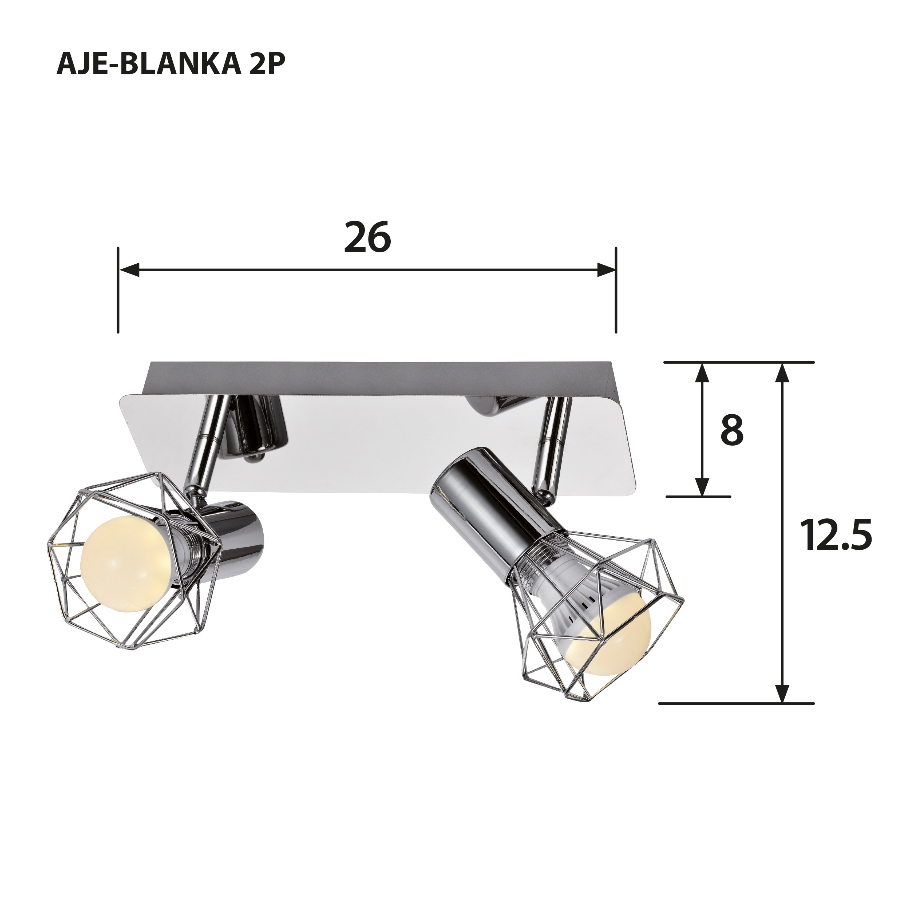 Listwa AJE-BLANKA 2P E14 2x40W