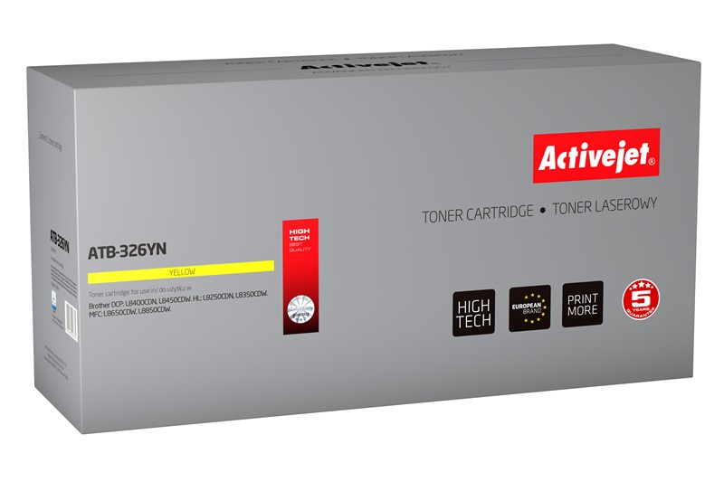 Toner Activejet ATB-326YN do drukarki Brother, Zamiennik Brother TN-326Y;  Supreme;  3500 stron;  żółty.