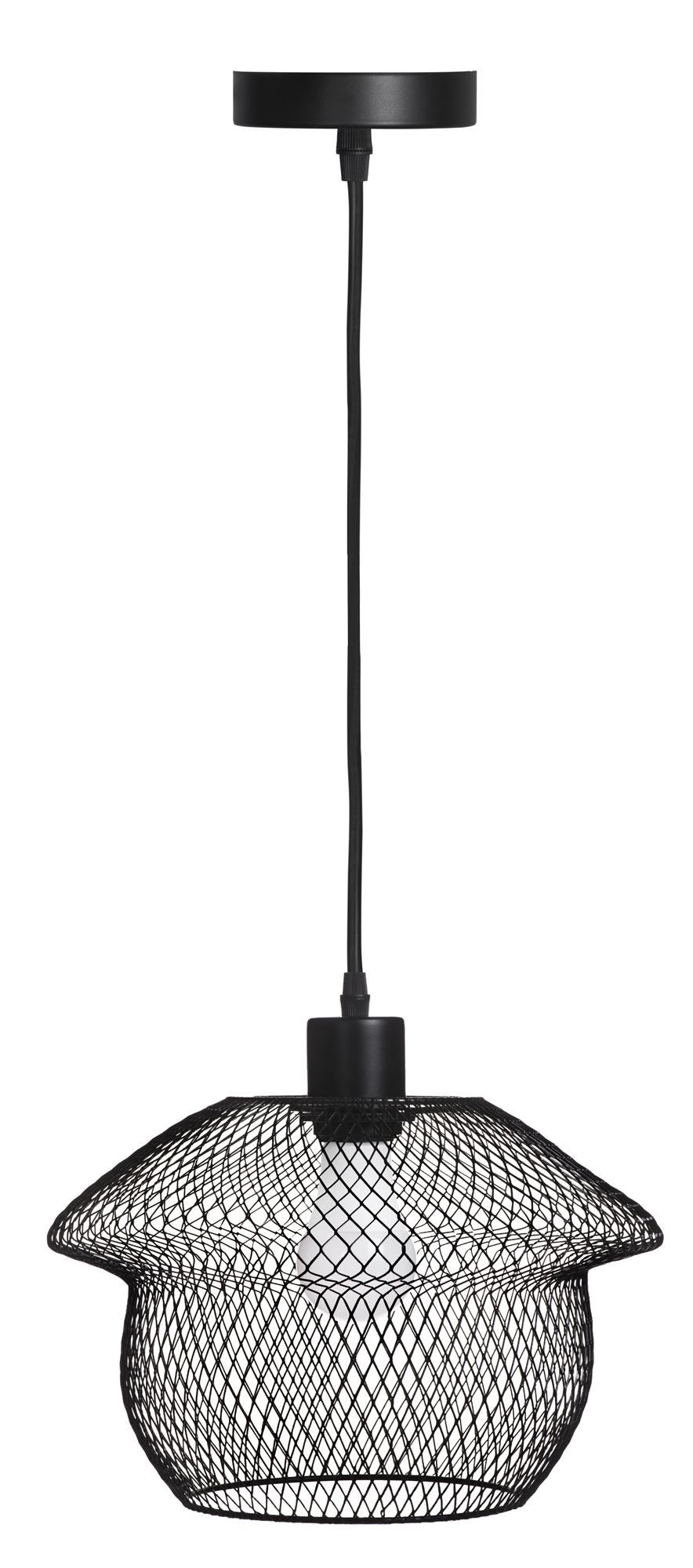 Lampa wiszaca Activejet czarna AJE-COCO Black 1xE27