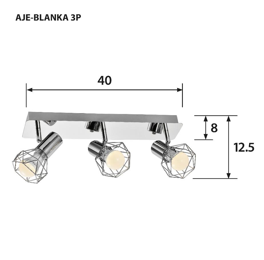Listwa AJE-BLANKA 3P E14 3x40W