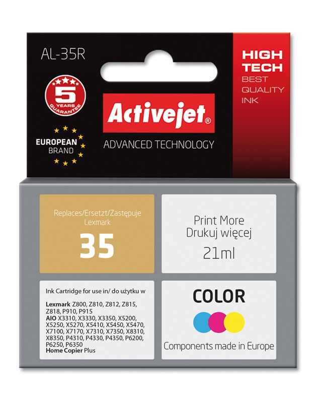 ActiveJet AL-35R tusz kolorowy do drukarki Lexmark (zamiennik Lexmark 35 18C0035E)