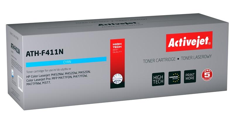 Toner Activejet ATH-F411N (do drukarki Hewlett Packard, zamiennik 410A CF411A supreme 2300str. cyan Chip)