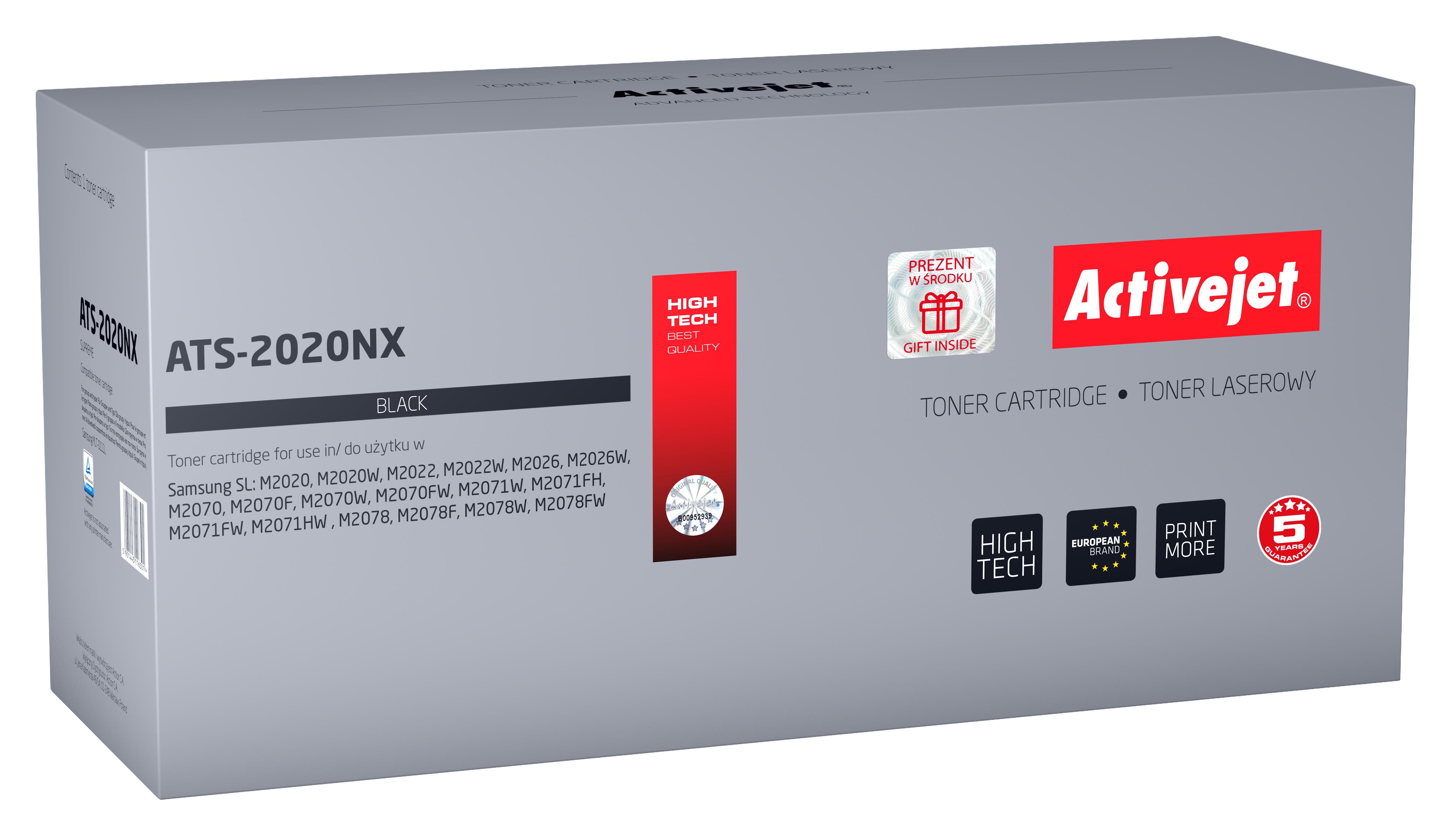 Toner Activejet ATS-2020NX do drukarki Samsung; zamiennik MLT-D111L; Supreme; 2000 stron; czarny.