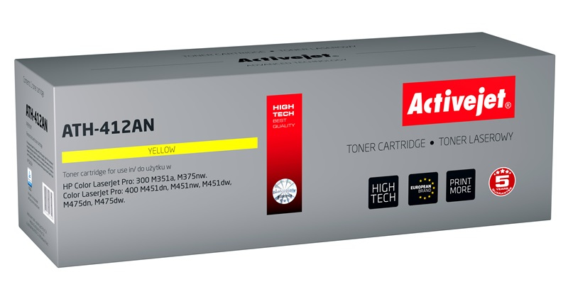 ActiveJet toner do HP 305A CE412A reg ATH-412AN