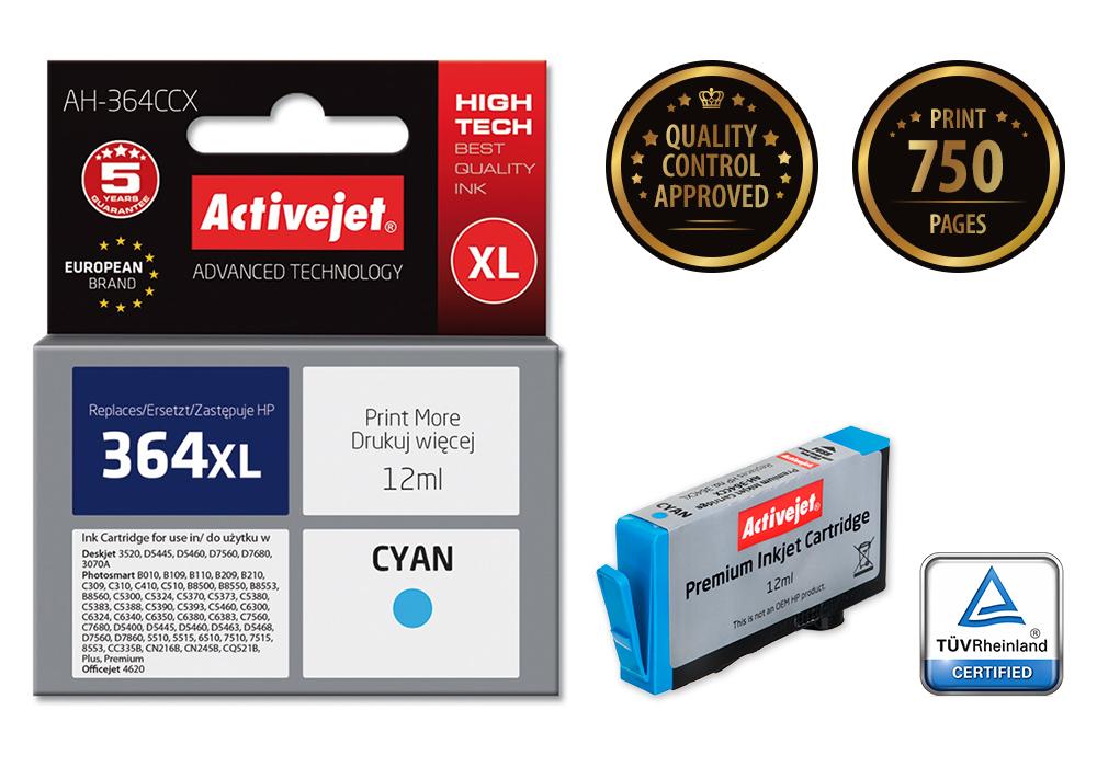 ActiveJet AH-364CCX (AH-C23) tusz cyan do drukarki HP (zamiennik HP 364XL CB323EE)..