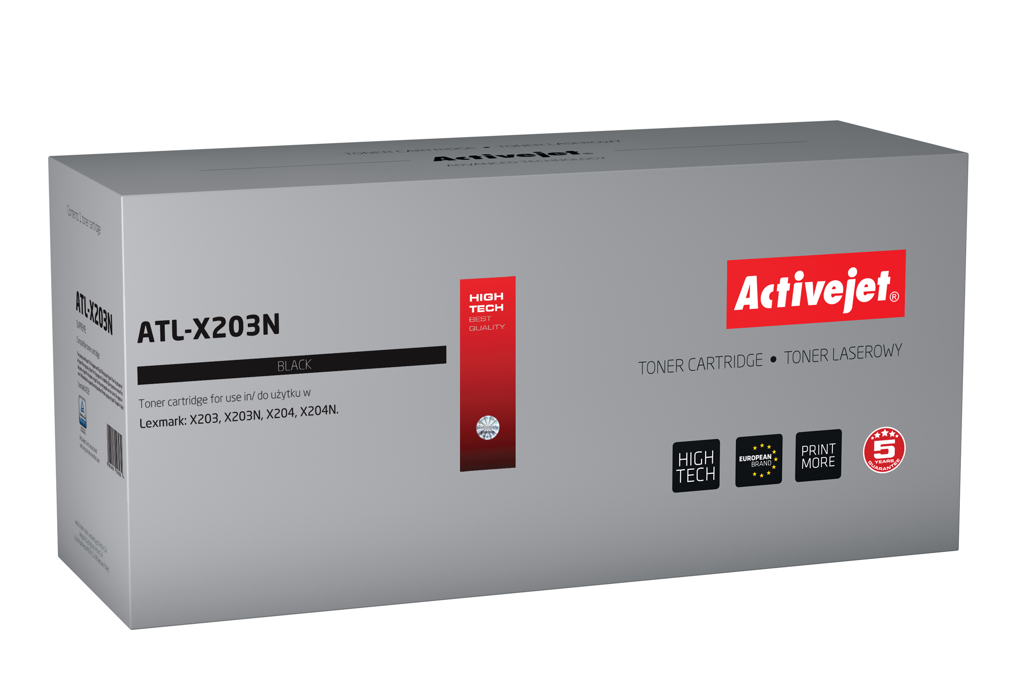 Activejet toner do Lexmark X203A21G new ATL-X203N