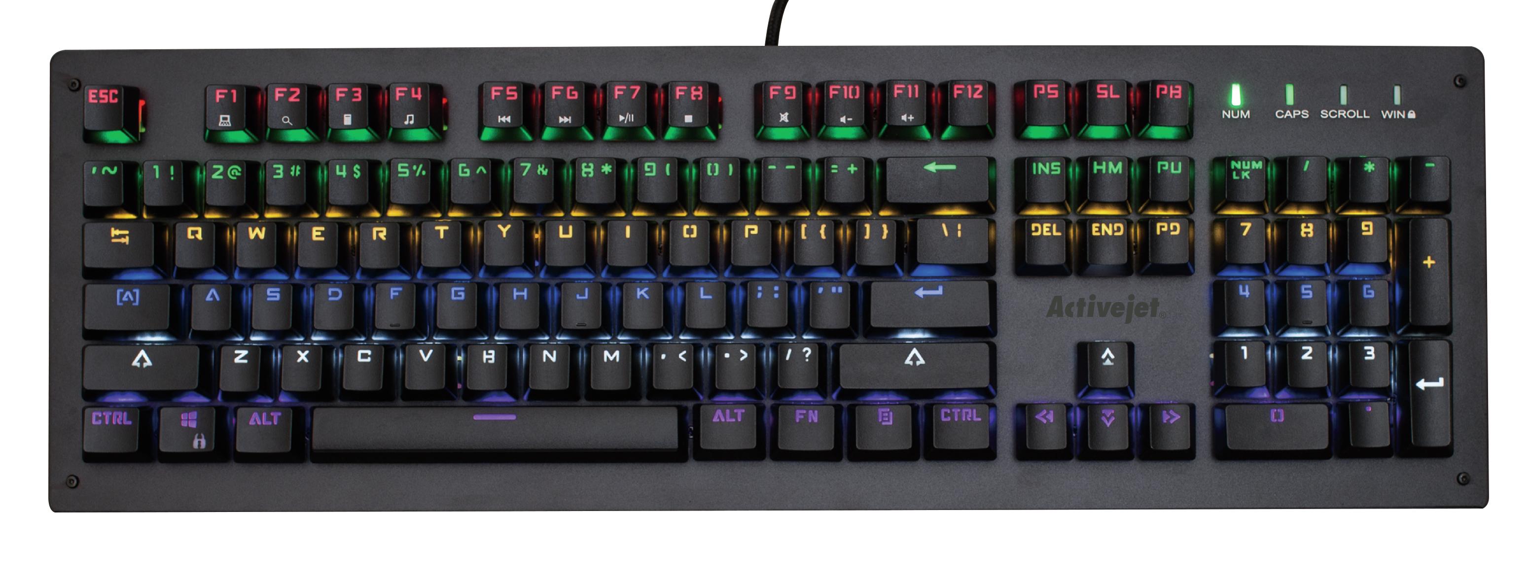 Activejet Klawiatura Mechaniczna Gaming USB K-6002