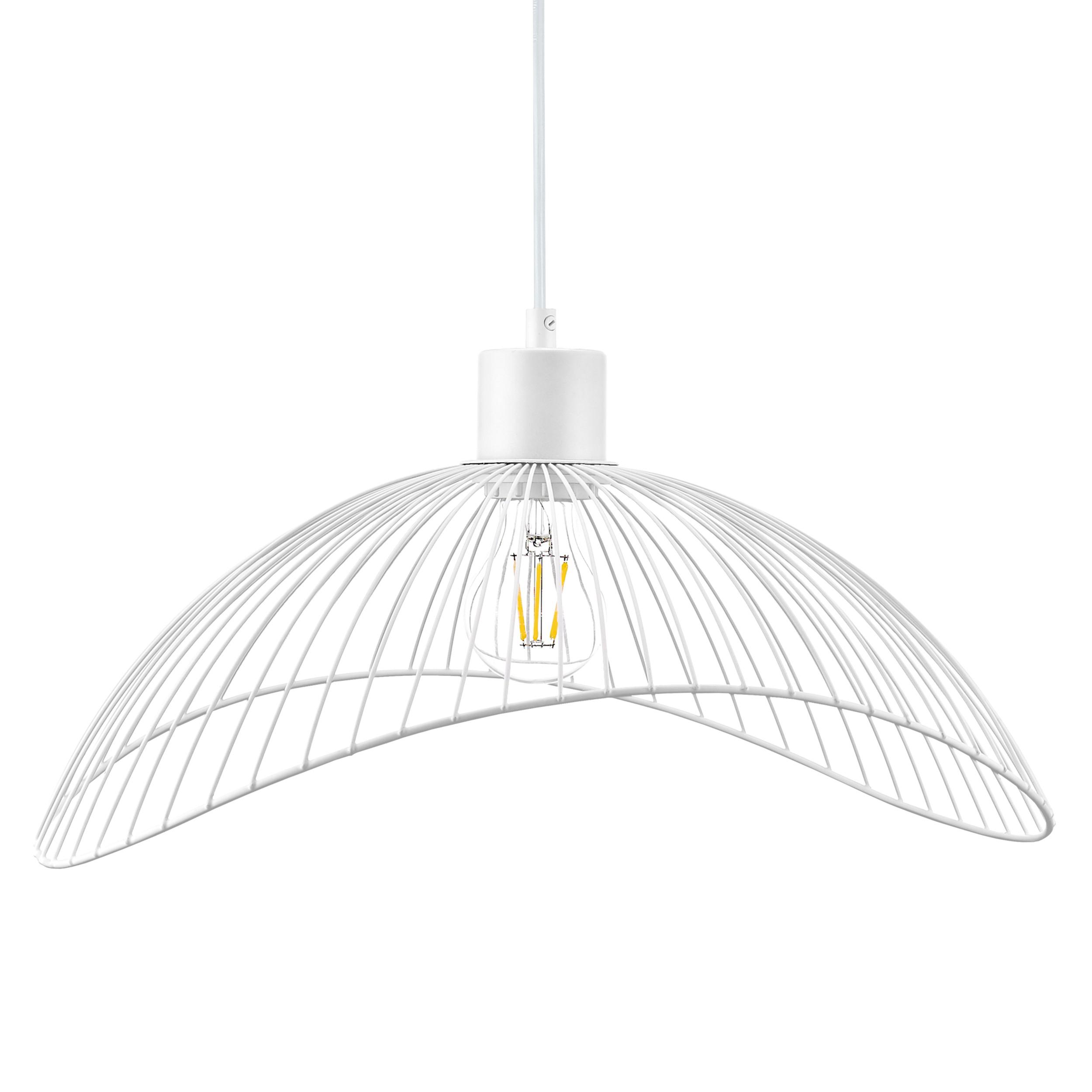 Lampa wisząca AJE-HOLLY 5 White 1xE27 40cm