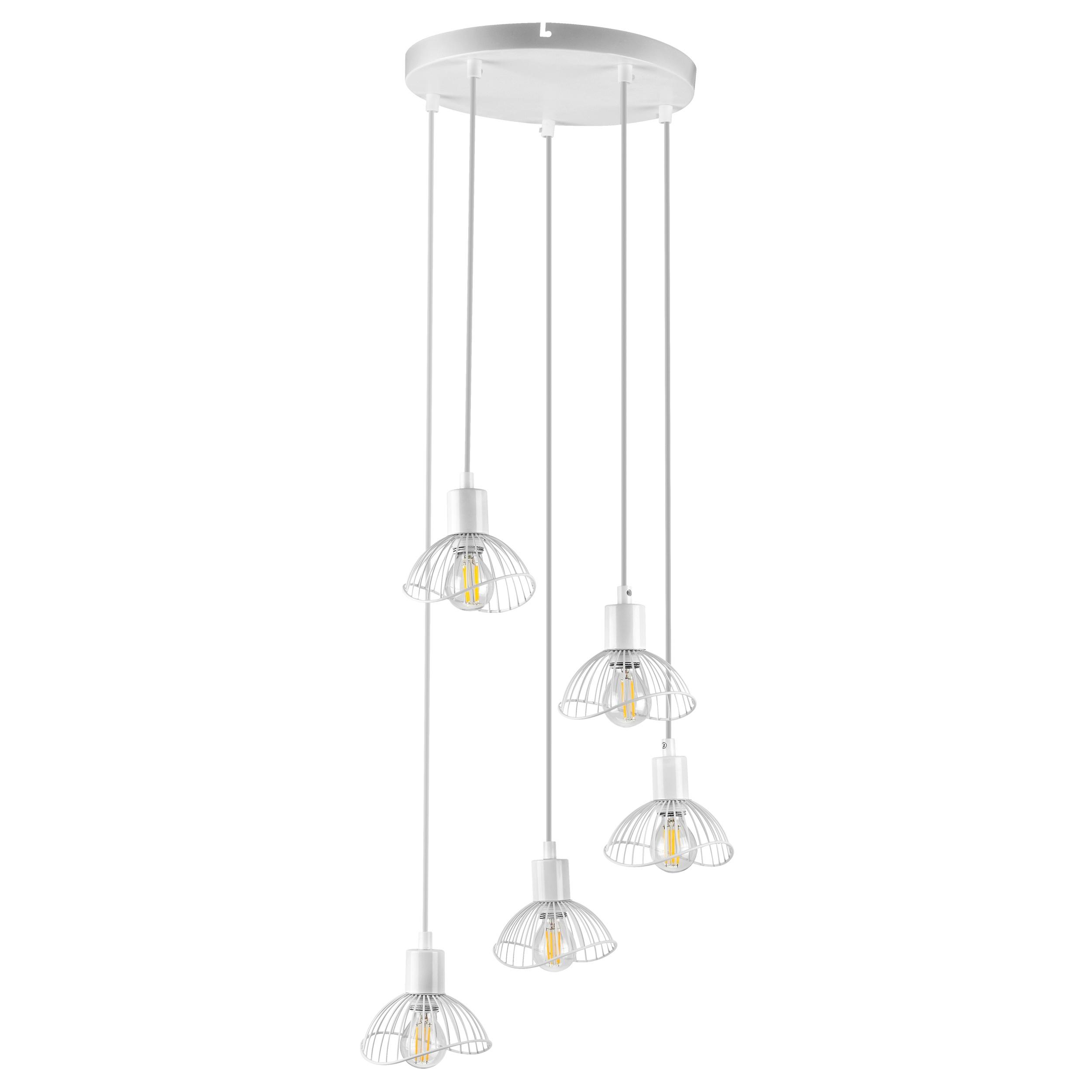 Lampa wisząca AJE-HOLLY 8 White 5xE14