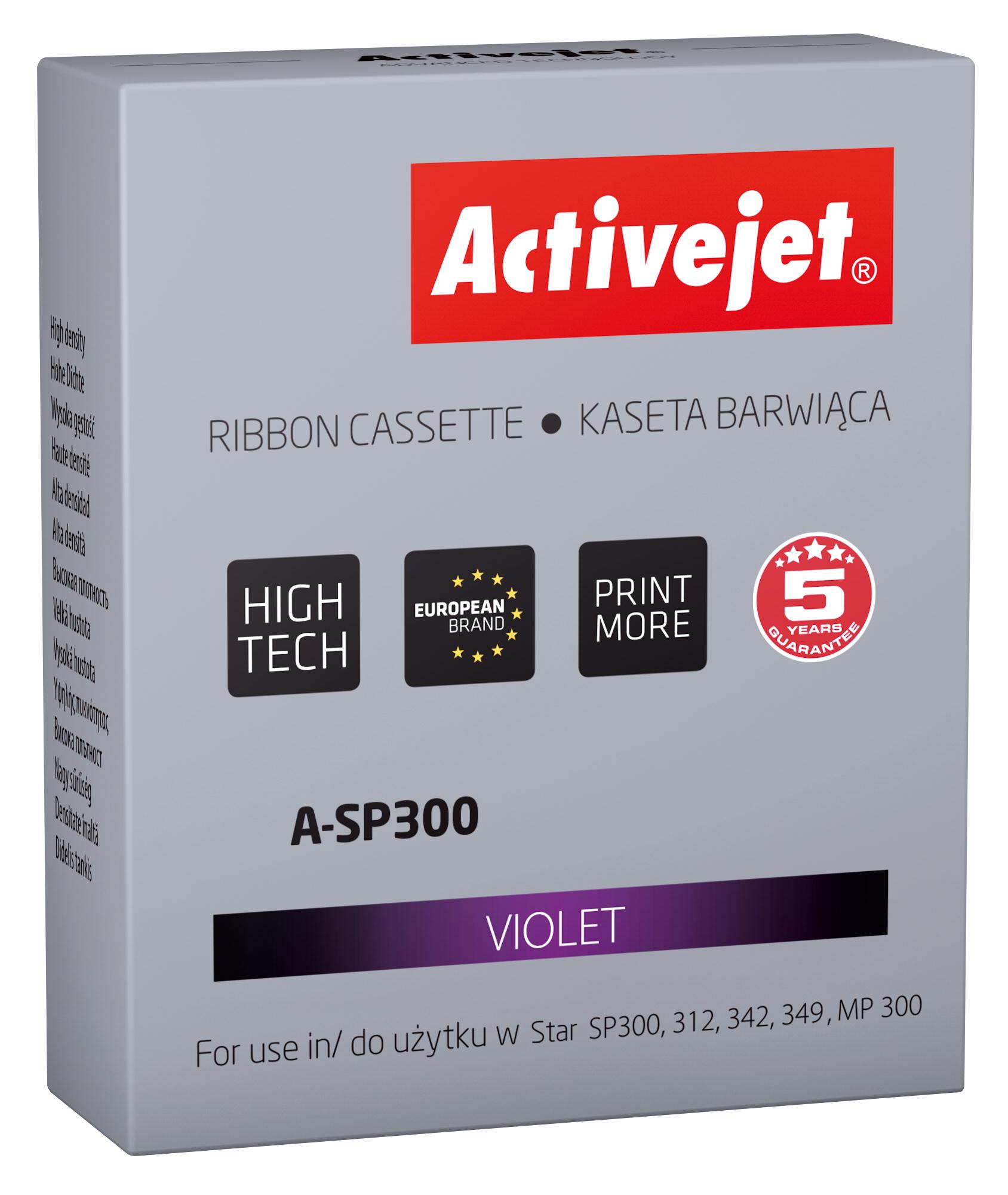 ActiveJet A-SP300 kaseta barwiąca kolor fioletowy do drukarki igłowej Star (zamiennik SP300)