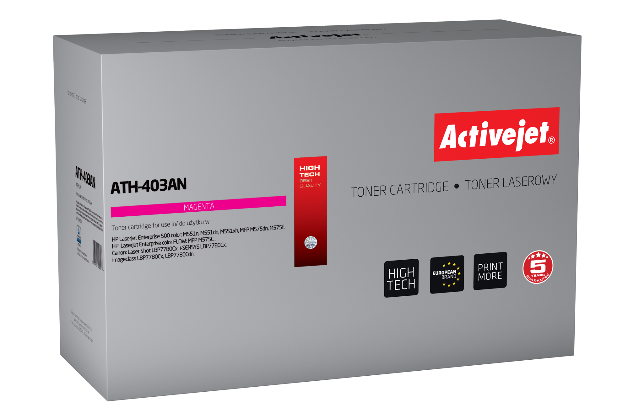 ActiveJet toner do HP 507A CE403A reg ATH-403AN