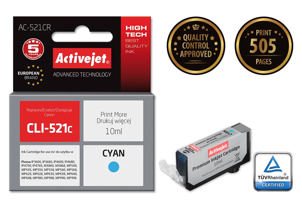 ACJ tusz Canon CLI-521 Cyan ref. ACR-521C