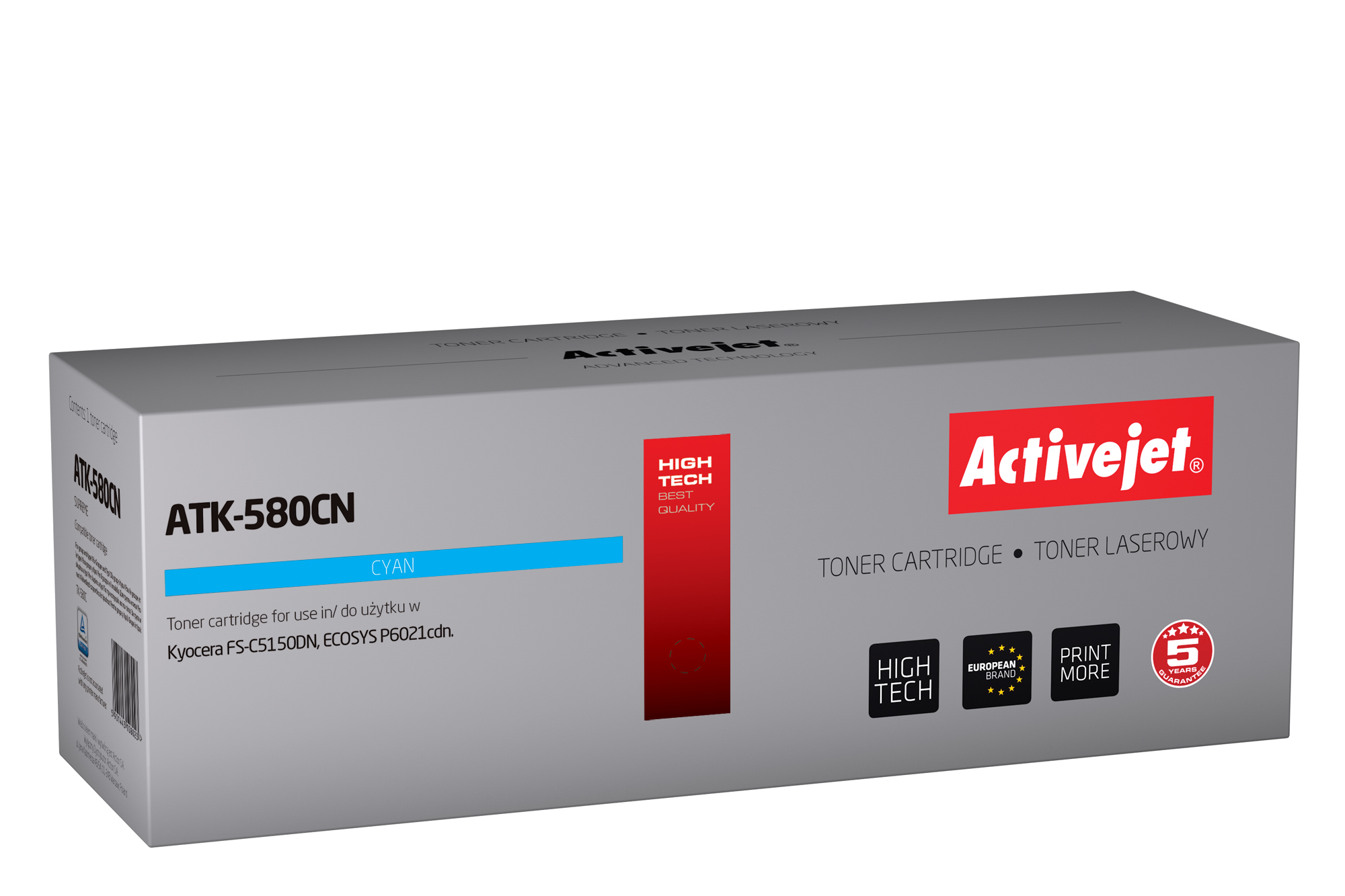 Activejet toner do Kyocera TK-580C new ATK-580CN
