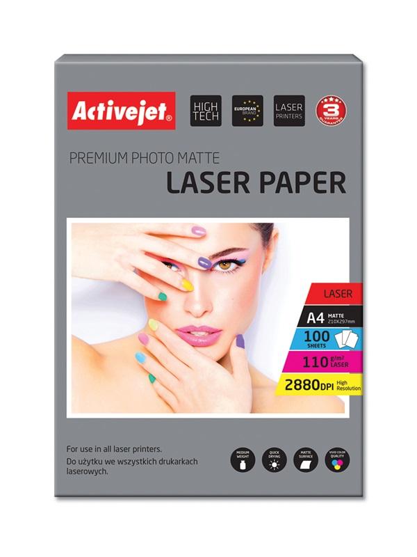 ActiveJet papier fotograficzny matowy AP4-110M100L