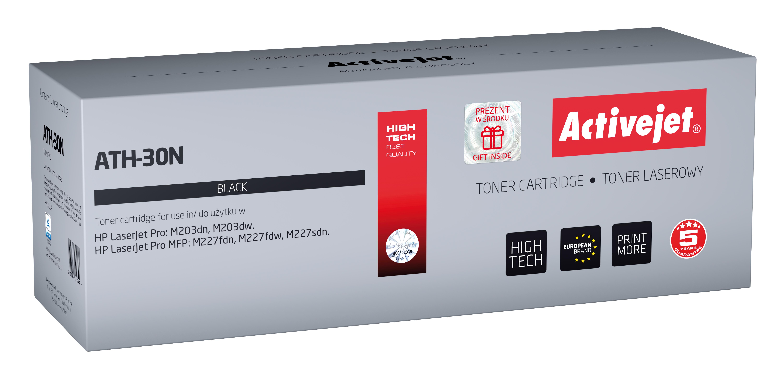Toner Activejet ATH-30N do drukarki HP, Zamiennik HP 30A CF230A;  Supreme;  1600 stron;  czarny.