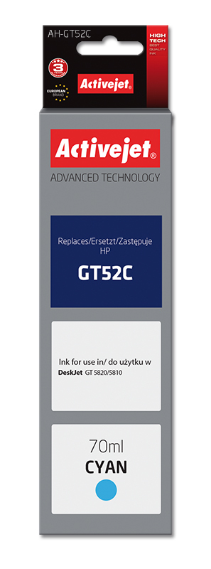 Activejet tusz do HP GT52C M0H54AE new AH-GT52C