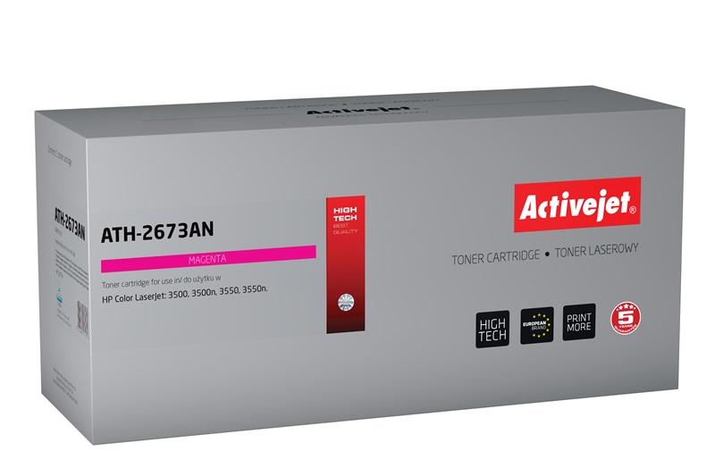 Toner Activejet ATH-2673AN do drukarki HP, Zamiennik HP 309A Q2673A;  Premium;  4000 stron;  purpurowy.