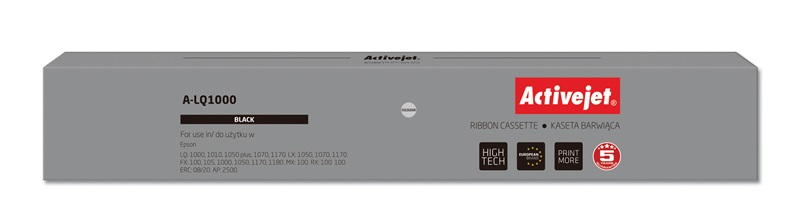ActiveJet A-LQ1000 kaseta barwiąca kolor czarny pasuje do drukarki igłowej Epson (zamiennik S015022)
