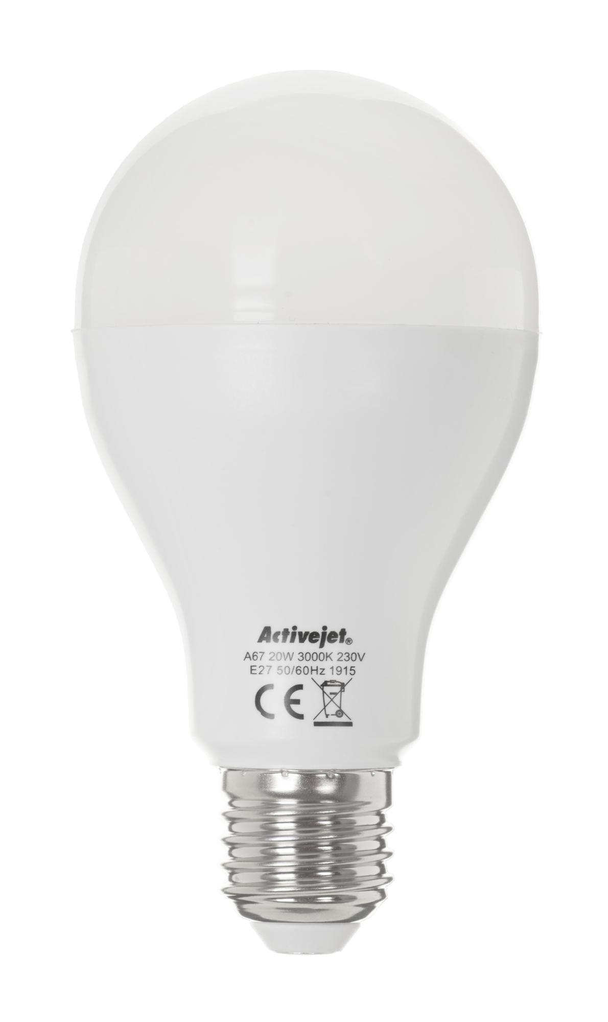 LED SMD AJE-HS2000W A67 2000lm 20W E27 b.ciepła