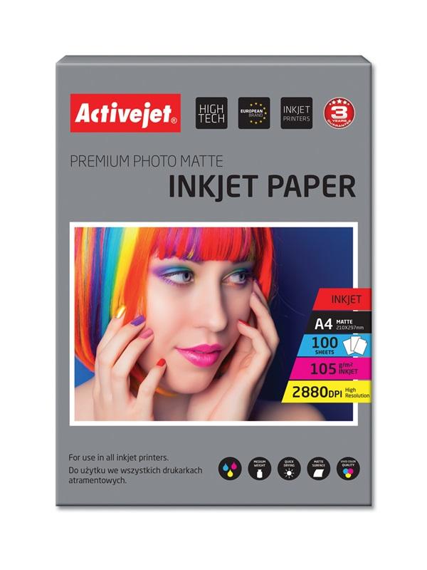 Papier Photo mat premium A4 100szt 105g AP4-105M100