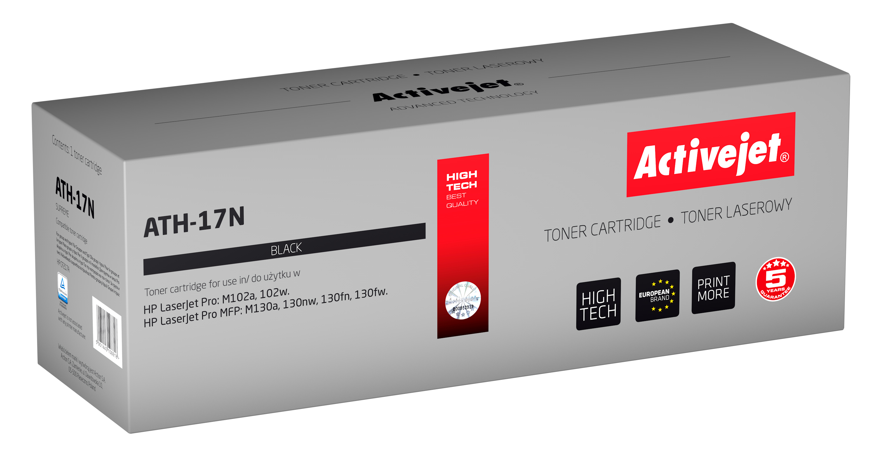 Activejet toner do HP 17A CF217A new ATH-17N