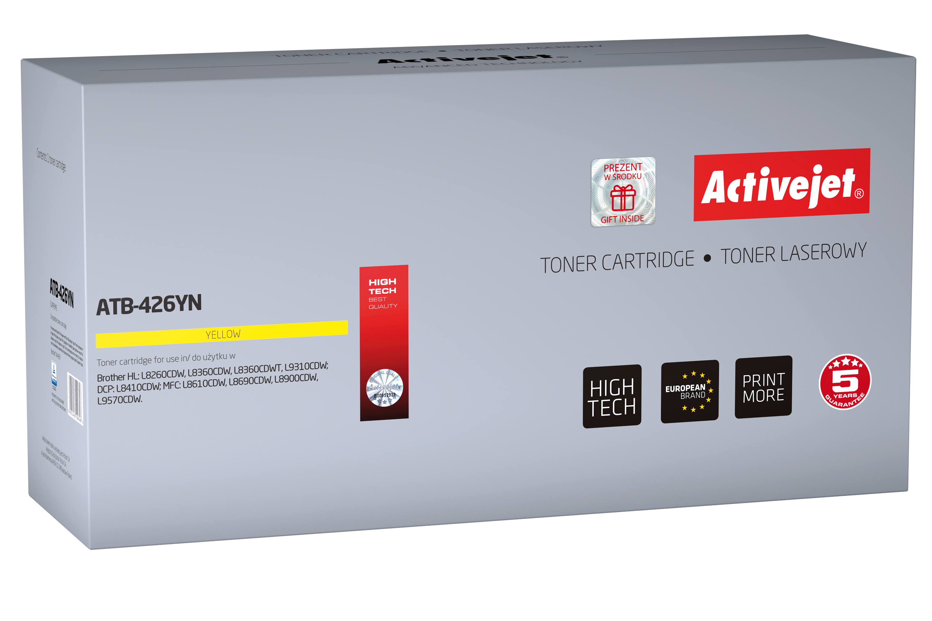 Activejet toner do Brother TN-426Y new ATB-426YN