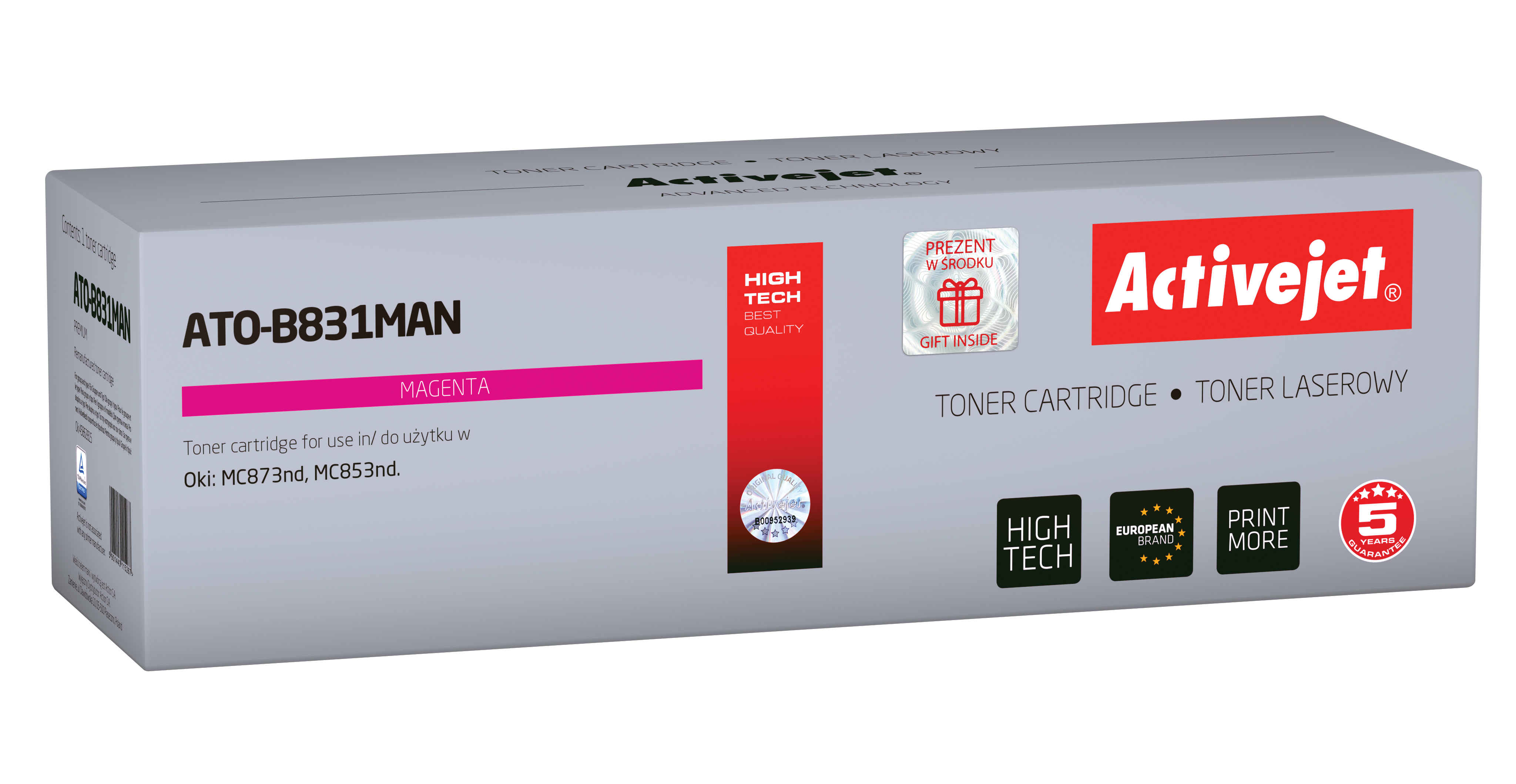 Activejet toner do OKI 45862815 reg ATO-B831MAN