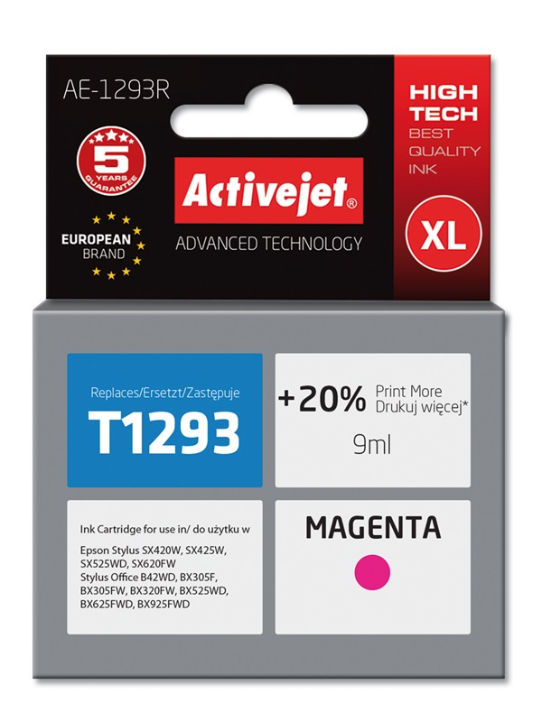 ActiveJet AE-1293R tusz magenta do drukarki Epson (zamiennik T1293)