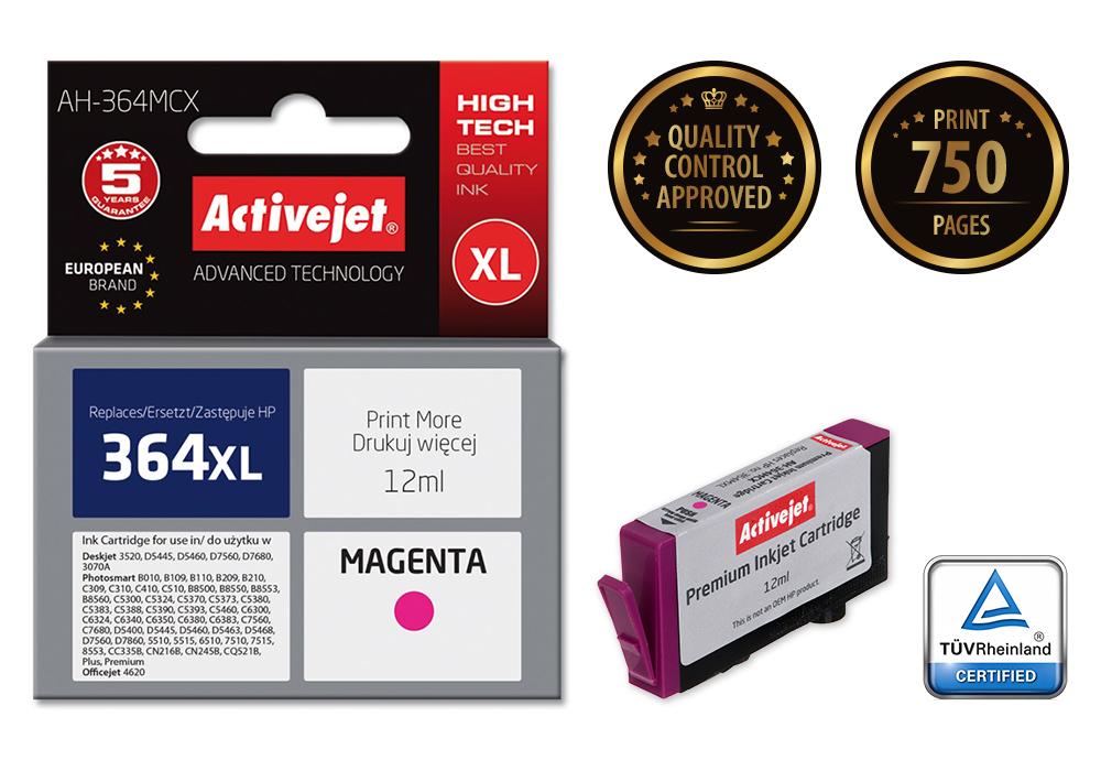 ActiveJet AH-364MCX (AH-C24) tusz magenta do drukarki HP (zamiennik HP 364XL CB324EE)..