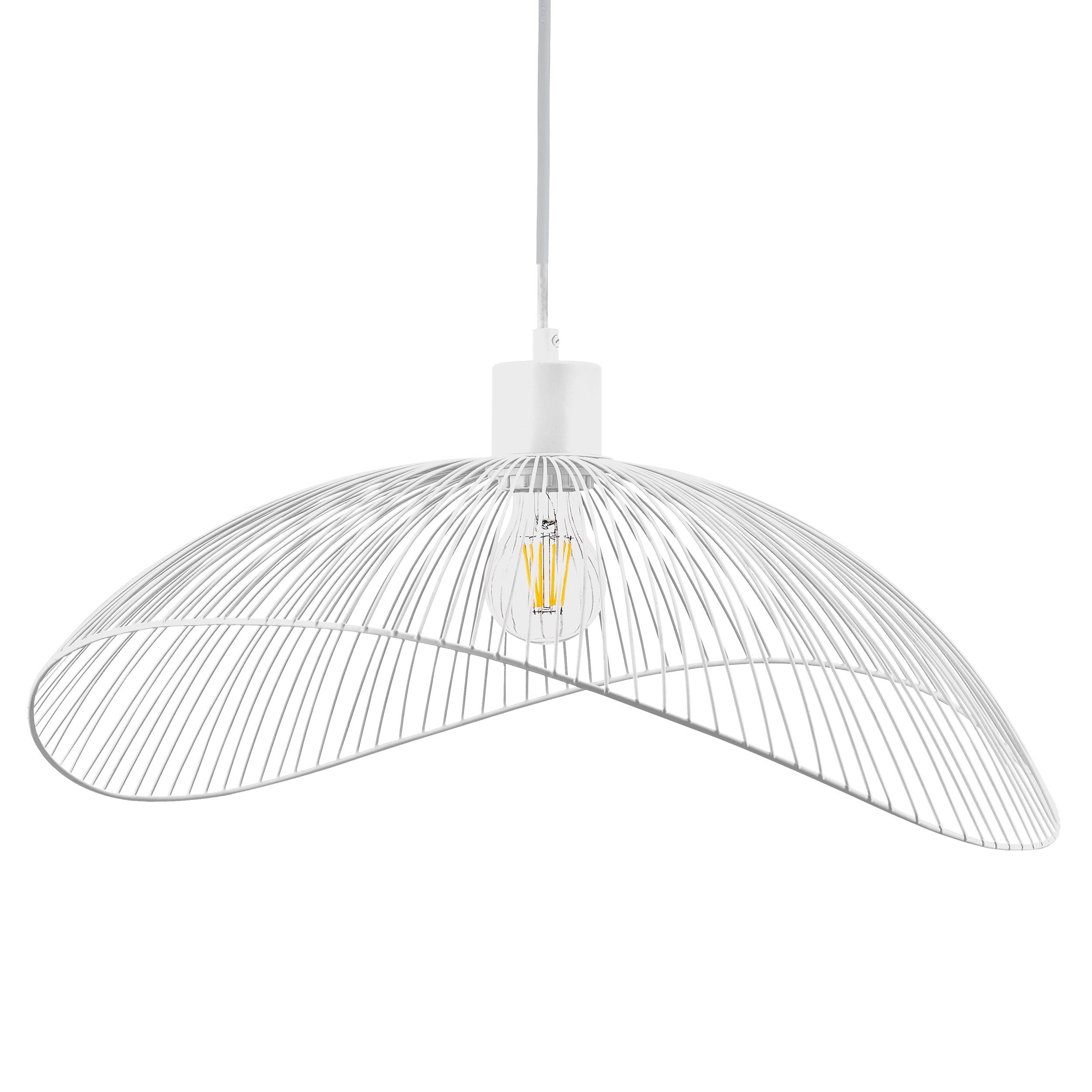 Lampa wisząca AJE-HOLLY 6 White 1xE27 50cm